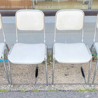 4点セット ダイニングチェア ホワイト 椅子 買取帝国朝霞