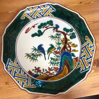 九谷焼 秀幸造 古久谷風花鳥図 飾皿