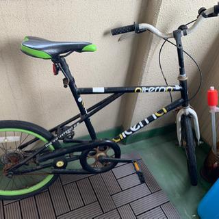 コンパクト!自転車グリーン&ブラック