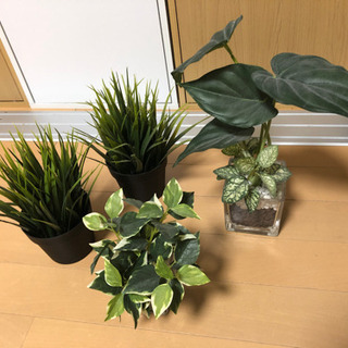 観葉植物 フェイクグリーン 4点
