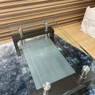 【ネット決済】ガラス製ローテーブル