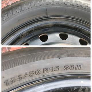 ほぼ新品195/60R15タイヤ2本ブリジストン