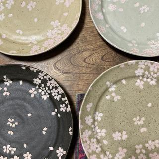 桜のお皿4枚セット
