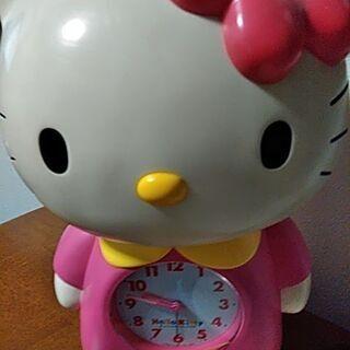 ジャンク品 キティちゃん 目覚まし時計差し上げます