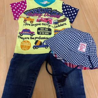 70cm  Tシャツ、パンツ、帽子 3点セット