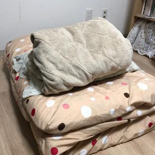 シングル用敷布団、枕、冬用マット