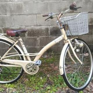 アイボリーカラー自転車27インチ