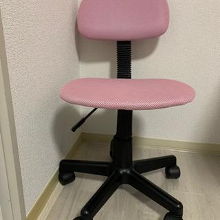 【板橋区】オフィスチェア ピンク ※高さ調節可