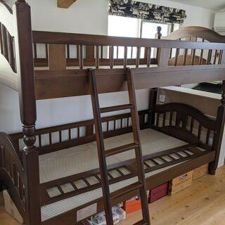 木製2段ベッド(フランスベッド)