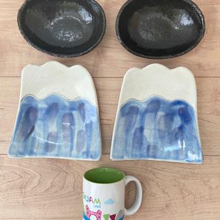 値下可⭐︎富士山の皿、小鉢、マグカップおまけ付き
