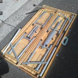アウトドア 木製テーブル イス収納