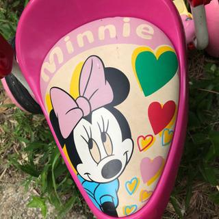 【レトロ】ディズニー ミニーちゃん三輪車 女の子 ピンク …