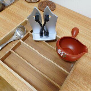 木製キッチン整理・湯冷まし器・研ぎ機・湯豆腐すくい★