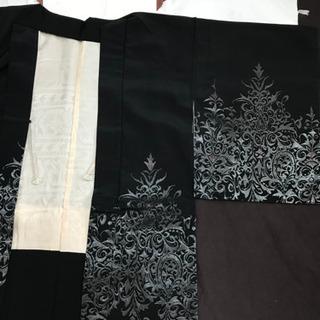 黒地にラメ 一つ紋羽織