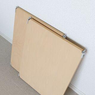 MUJI 無印良品 ユニットシェルフ用木製棚 2枚セット/メープ...