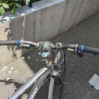【ネット決済・配送可】【ジャンク】GIANT クロスバイク