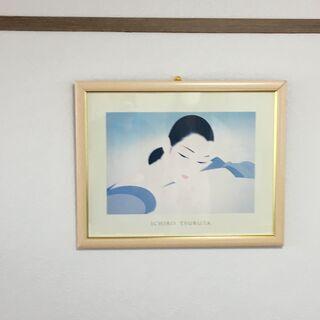 ★鶴田一郎 複製画 中古品
