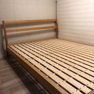 5月末まで!無印良品タモ材ダブルベッド