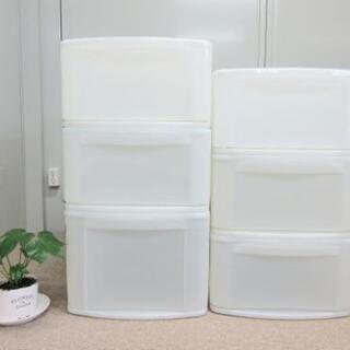 プラスチックケース6個セット/衣類収納/押入れ収納