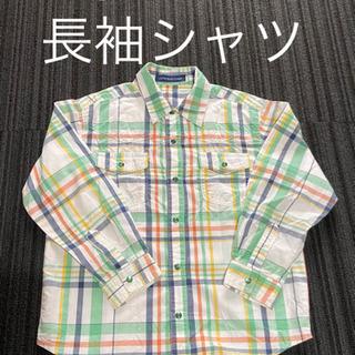 【男の子 120 ㎝ 長袖 ボタン シャツ 綿 100 % 前開...