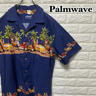 【Palmwave】アロハシャツ クラシックカー ヤシ サ…