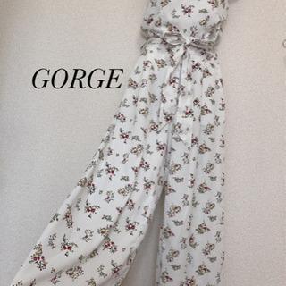 【ネット決済】GORGE 花柄オールインワン