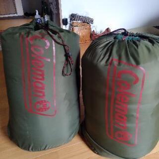 コールマン 寝袋×2