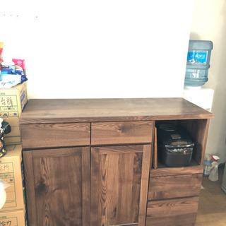 食器棚 オーク 炊飯器