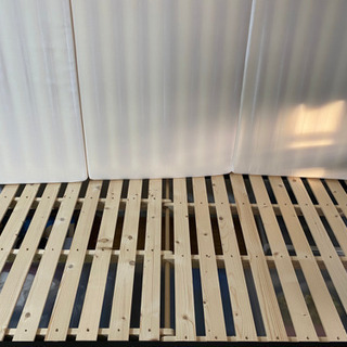 シングルベッド(ニトリ)スノコ床板、マットレス、敷き布団