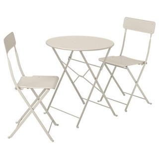 テーブル、イス2脚セット