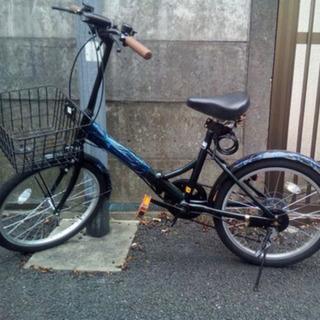 【ネット決済・配送可】折りたたみ自転車 20インチ 6段ギア