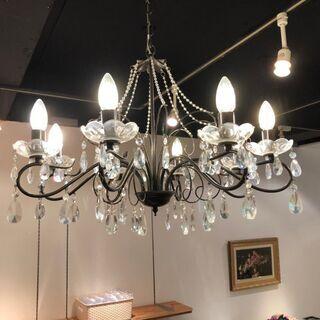 シャンデリア LED対応 8灯 クリスタルガラス リビング…