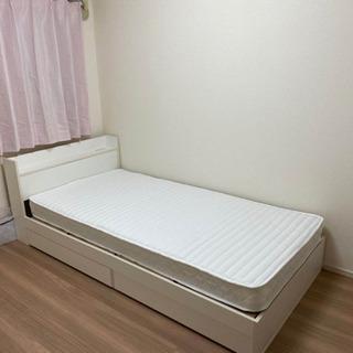 【美品】シングルベッドマットレス付き コンセントあり