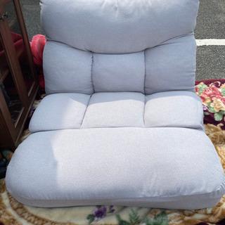 ニトリ 座椅子 椅子 ツナガルポケットコイルザイス レガ グレー