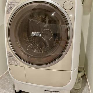 日立 ドラム式洗濯乾燥機 9kg BD-V2200 201…