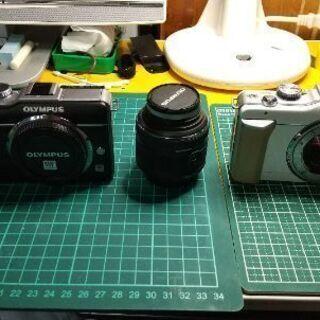 ジャンク OLYMPUSP PL-1 レンズ、2台セット。