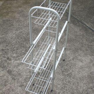 洗濯機サイドラック 3段 幅20cm - 生活雑貨