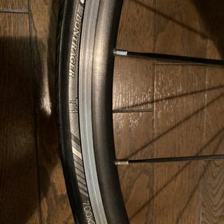 ロードバイクのホイール+タイヤ前後輪 - 自転車