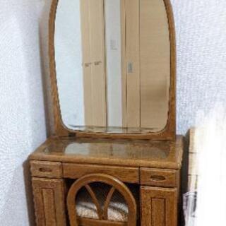 【ネット決済】椅子付き大きな鏡のドレッサー(鏡台)