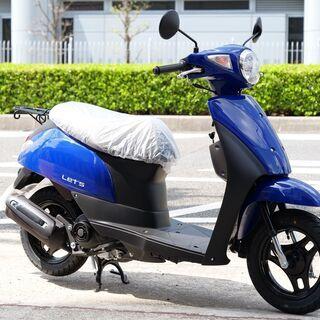新車 SUZUKI レッツ 青 すぐに納車可能! 大阪市よ…