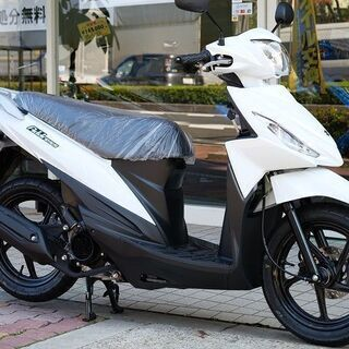 新車 SUZUKI アドレス110 ホワイト すぐに納車可…