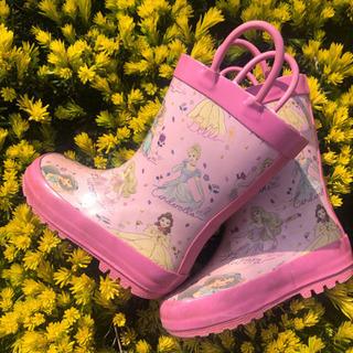 ディズニーレインブーツ プリンセス柄長靴 15cm