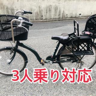 【ネット決済・配送可】子供乗せ自転車 petit maman プ...