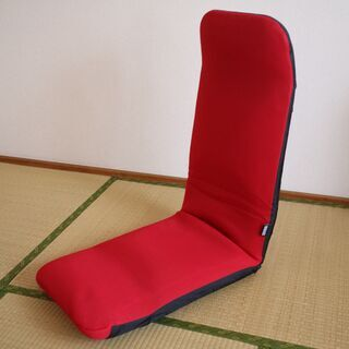 和楽プレミアム リクライニング座椅子 赤 カバー付き