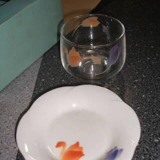 ★☆昭和レトロ 花柄グラス冷茶グラス 5個セット レトロポップ☆★