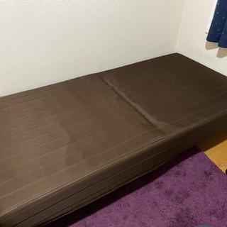 脚付きマットレス シングルベッド 無料