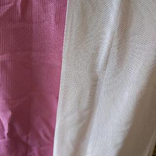 カーテン4枚セット ニッセン ピンク