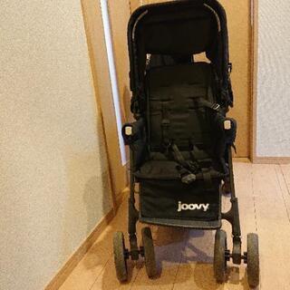 【ネット決済】JOOVYカブース(2人乗りベビーカー)リアシートつき
