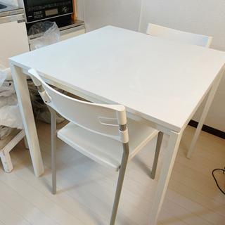 無料!IKEAテーブルセット。椅子は2脚。本日夜の引き取り希望。...