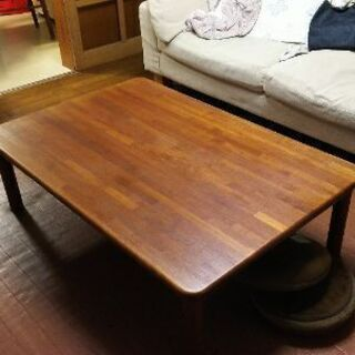 【ネット決済】チーク材の座卓、ローテーブル